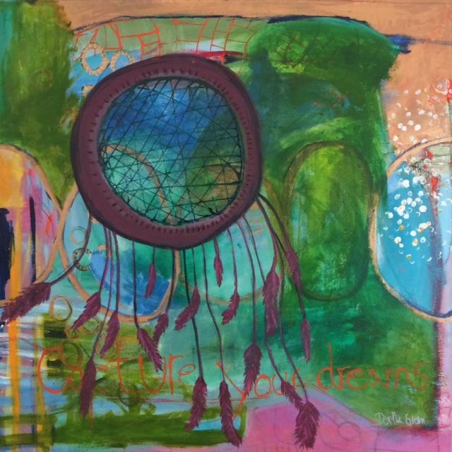skab dine drømme, grøn, maleri, billedkunstner, kunst, art